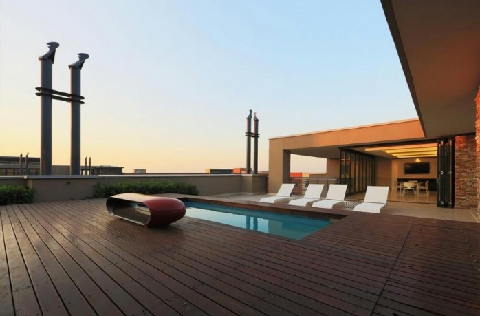 Melrose Arch Penthouse terrace - Majestic Penthouses International
